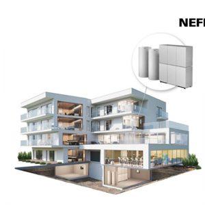 De nieuwe Nefit Bosch Compress 7000 LW aardwarmtepomp.