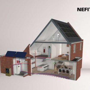 Energieneutraal wonen begint met een Nefit EnviLine warmtepomp