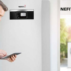 Stille Compress 7400i AW buitenunit voor warmtepompen van Nefit Bosch